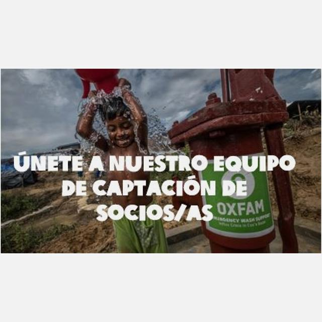 únete al equipo de captación Oxfam Intermón