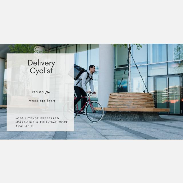 E-Bike Delivery Courier