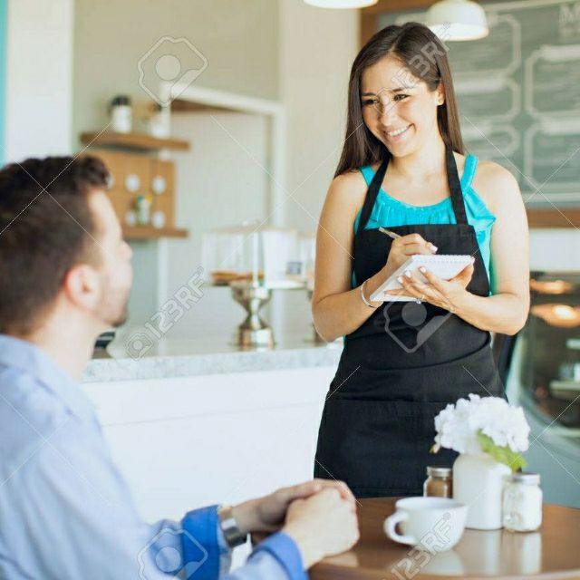 Camarera para cafetería