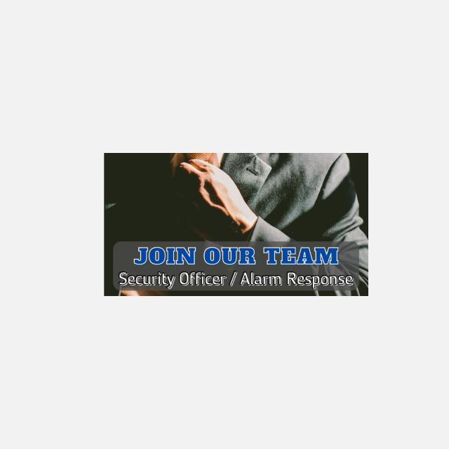 Alarm Response / Security Guard