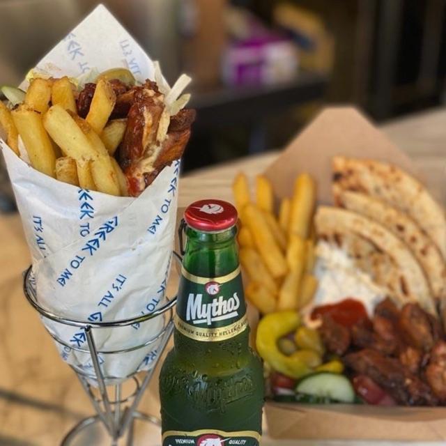 Greek Fast Food server