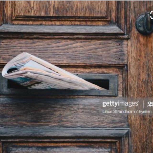 NEWSPAPER DELIVERY DOOR TO DOOR - RICHMOND 🗞