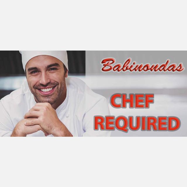 Greek Cusine Chef for Babinondas Restaurant