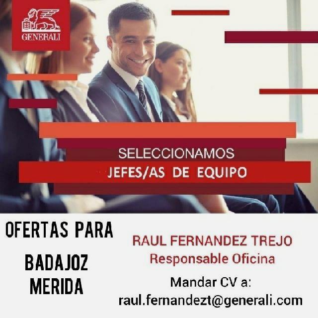 JEFE DE EQUIPO GENERALI SEGUROS