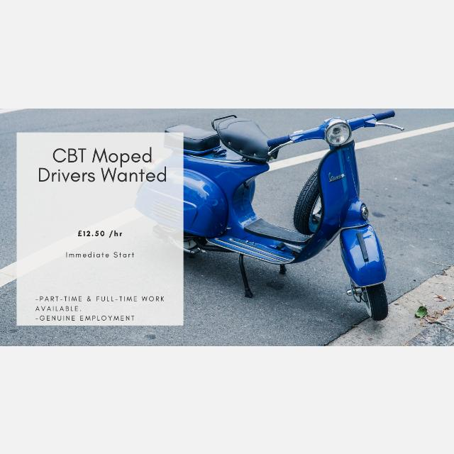 CBT License Delivery Driver (Moped Driver)