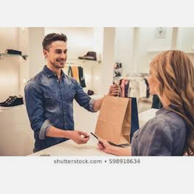 vendedor dependiente de tienda