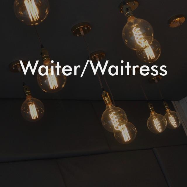 Commis Waiter / Waitress