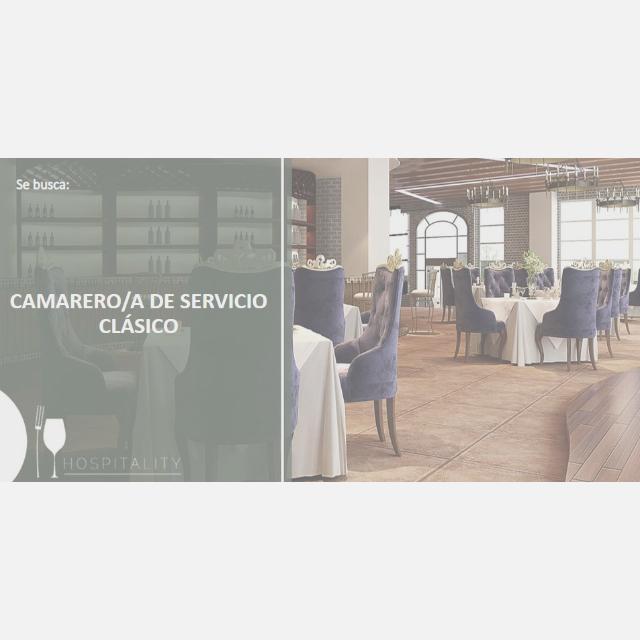 Camarero/a c/Protocolo